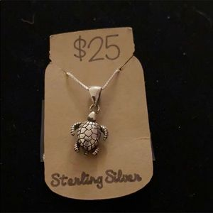 Sterling silver tortoise necklace